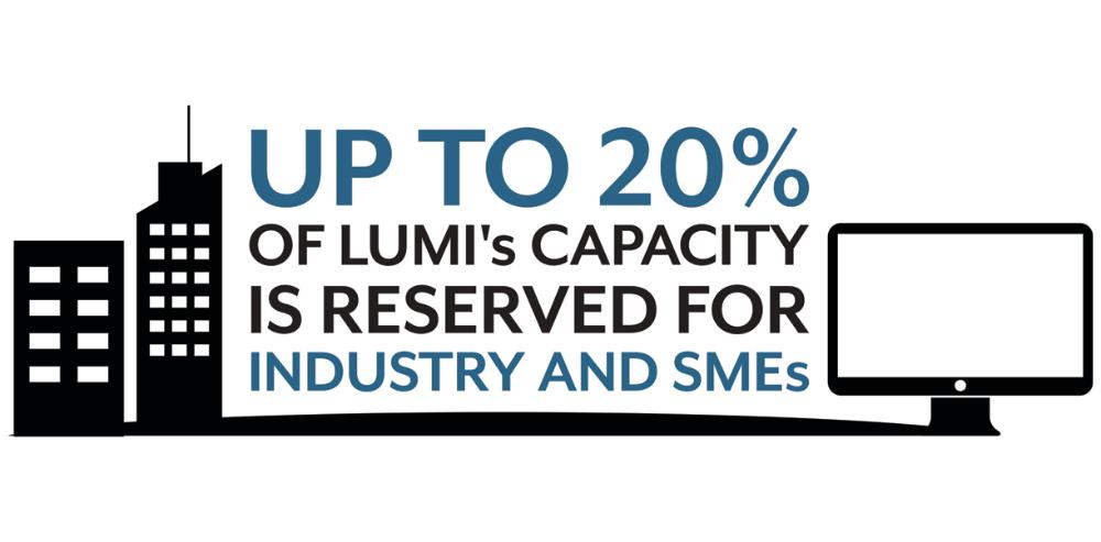 Up to 20% of LUMI's resources will be available to industry and SMEs